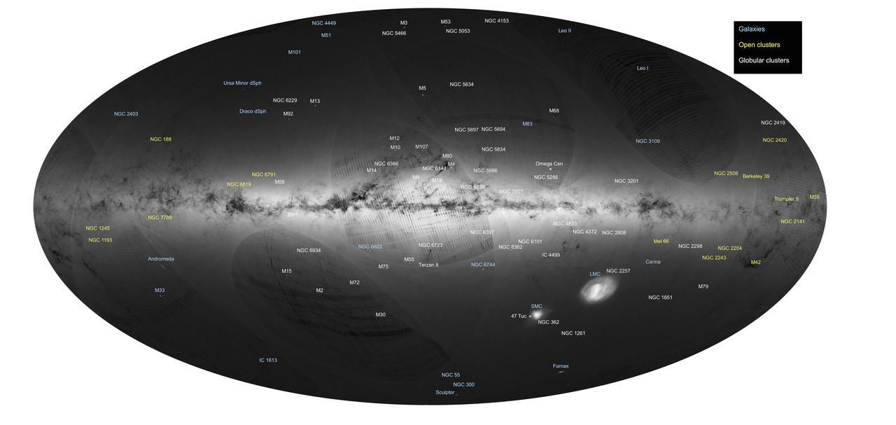 La Vía Láctea, cartografiada por 'Gaia'