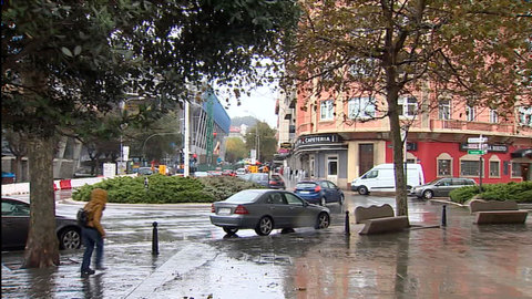 Viento fuerte y precipitaciones en Galicia y sistema Central