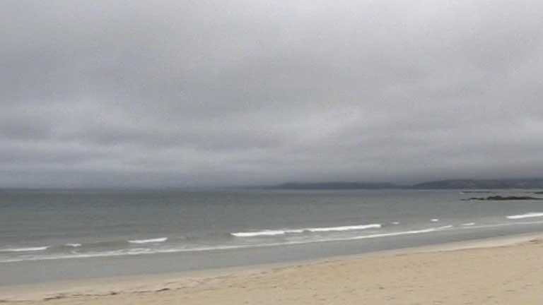 Viento, lluvia y nubes en Galicia
