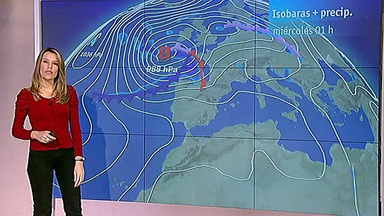 Vientos fuertes en el norte peninsular y bajada de las temperaturas máximas en toda España