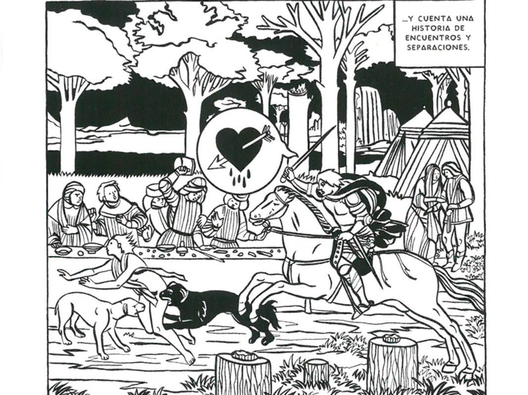 Viñeta de un poema de Menchu Gutíerrez