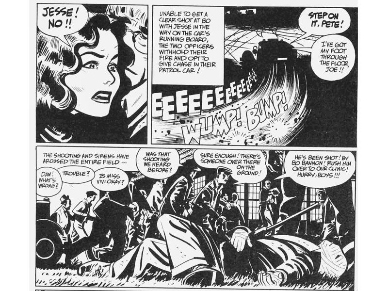 Viñetas de 'Bravo for adventure', de Alex Toth