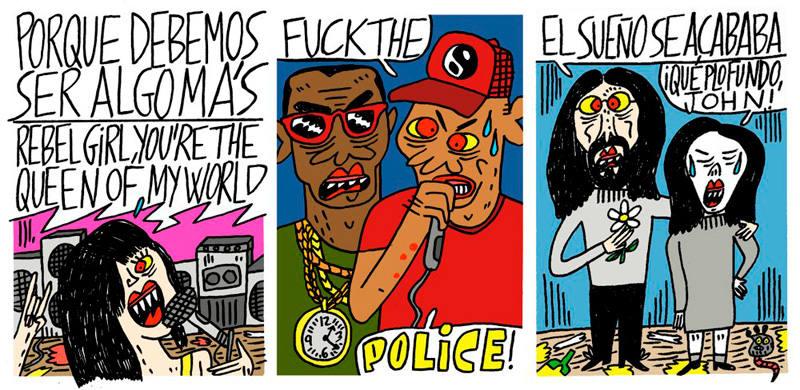 Viñetas de 'Historia inventada del punk'