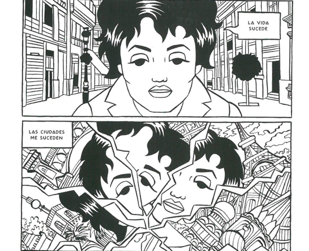 Viñetas de un poema de Isabel Bono