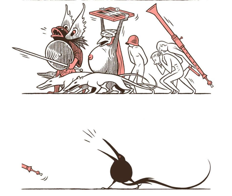 Viñetas de 'El tríptico de los encantados'