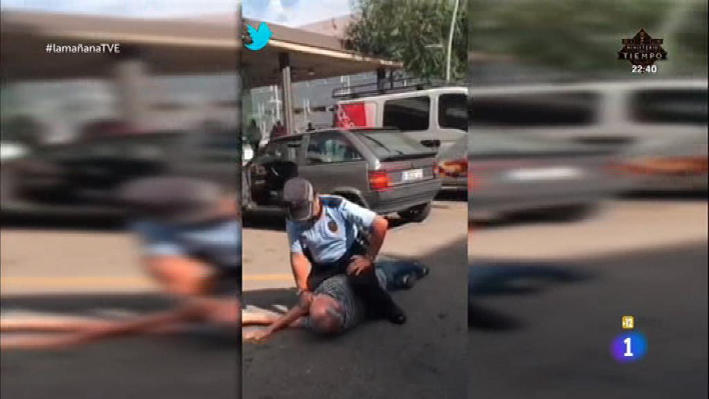 Violenta detención de un anciano
