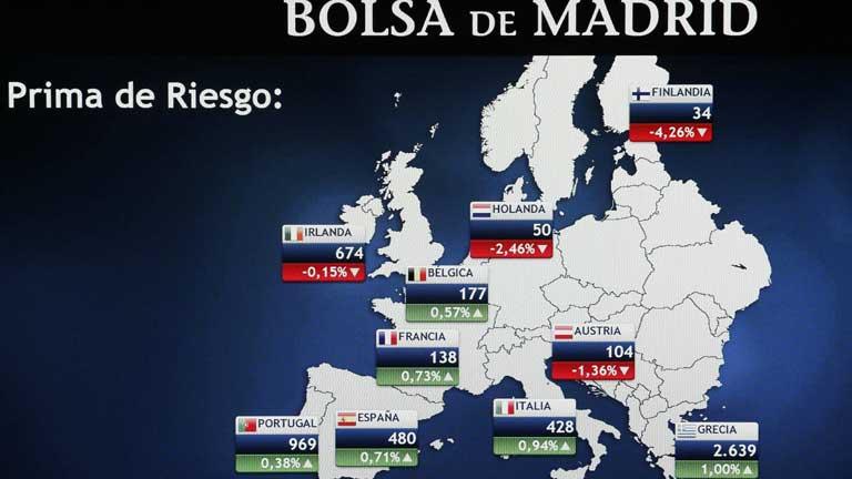 Volatilidad en la Bolsa española y presión sobre la prima de riesgo