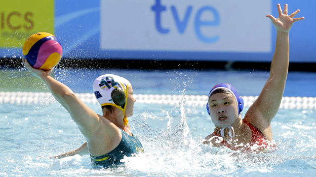 Waterpolo femenino. Fase de grupos:  Australia - China