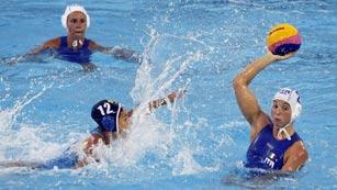 Waterpolo femenino. Fase de grupos: Italia - Kazajistán