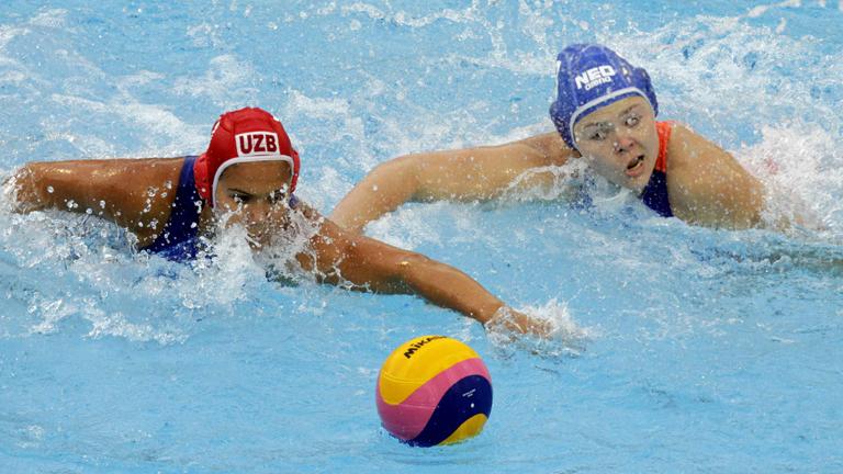 Waterpolo femenino. Fase de grupos: Uzbekistán - Holanda