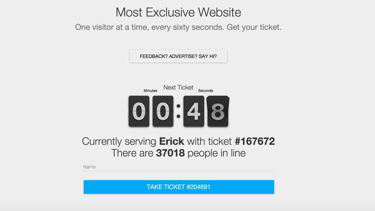 La web más exclusiva e inútil del mundo