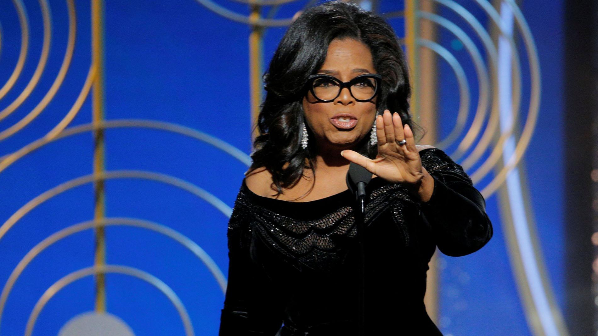 Oprah Winfrey, protagonista por sus denuncias en los Globos de Oro