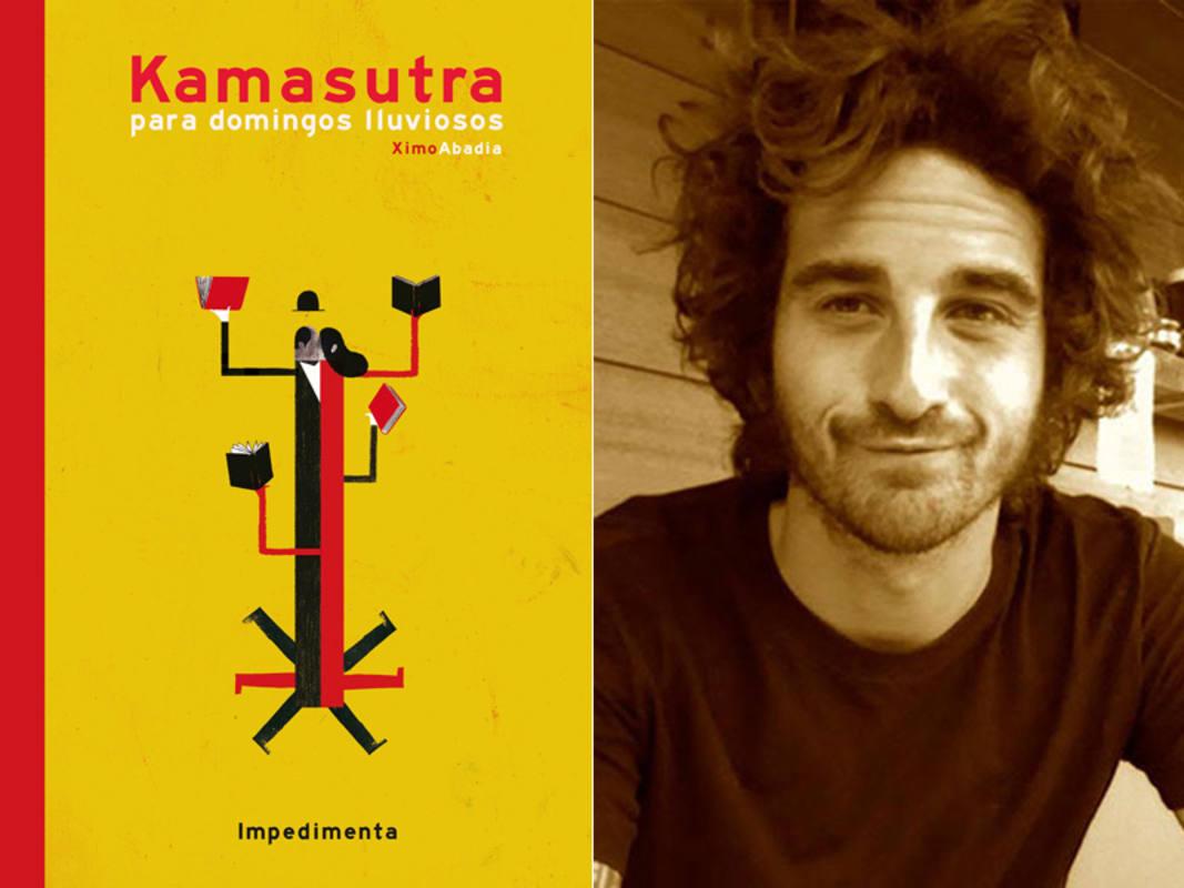 Ximo Abadía y la portada de 'Kamasutra para domingos lluviosos'