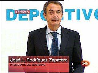 """Zapatero: """"Lissavetzky es el secretario con mejores resultados de todo el Gobierno"""""""