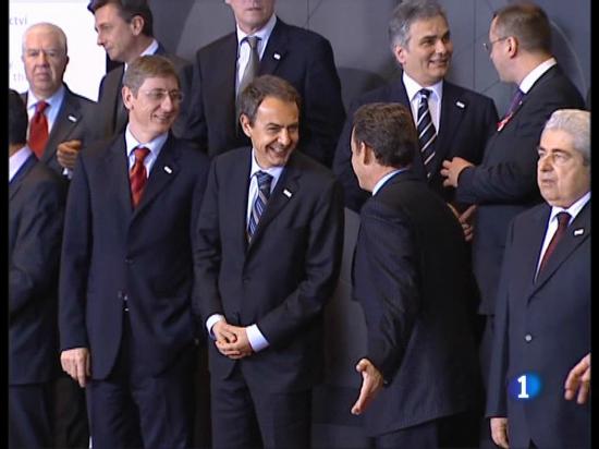Desde Bruselas Zapatero habla de la participación.