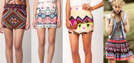 Look navajo  faldas. Otra de las tendencias de este verano ... f471ce115c9b