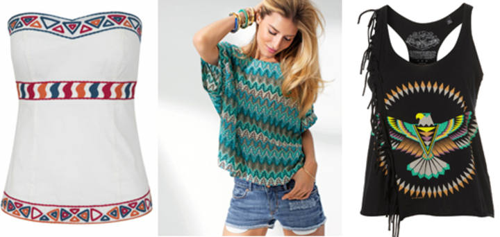 Look navajo: tops y camisetas