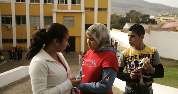 Estudiantes musulmanes en un colegio de Melilla
