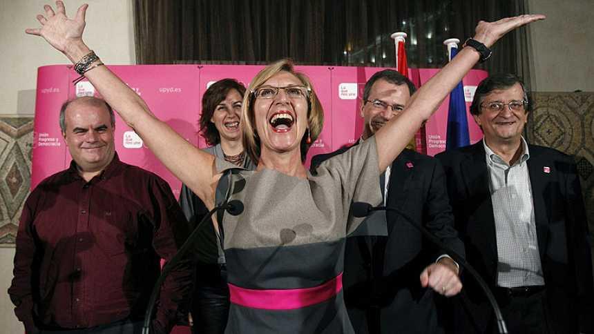 """Rosa Díez celebra resultados que son el """"inicio del fin del bipartidismo"""""""