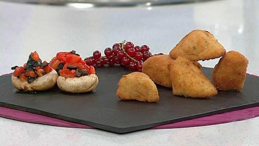 Saber cocinar - Croquetas de merluza y champiñón relleno - 03/01/12