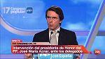 """Aznar envía un mensaje """"muy sencillo"""" a los terroristas: """"Nosotros ganamos y ellos pierden"""""""