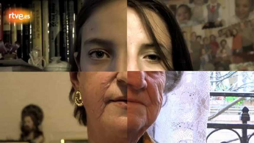 Cuatro generaciones de mujeres de una misma familia