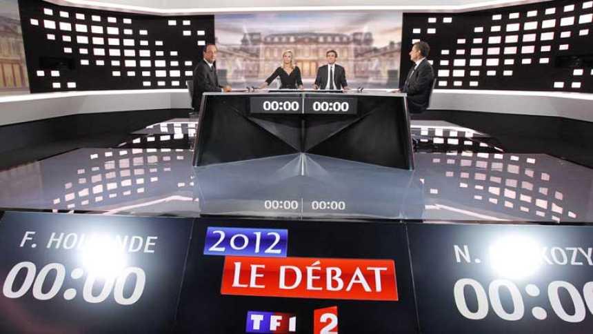 Tenso debate electoral Sarkozy-Hollande , sin claro ganador