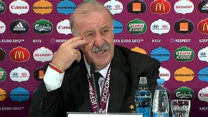 """Del Bosque: """"Estos futbolistas representan el trabajo de un país"""""""