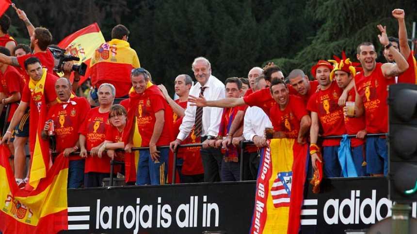 Madrid se vuelca con la Roja por la Eurocopa 2012