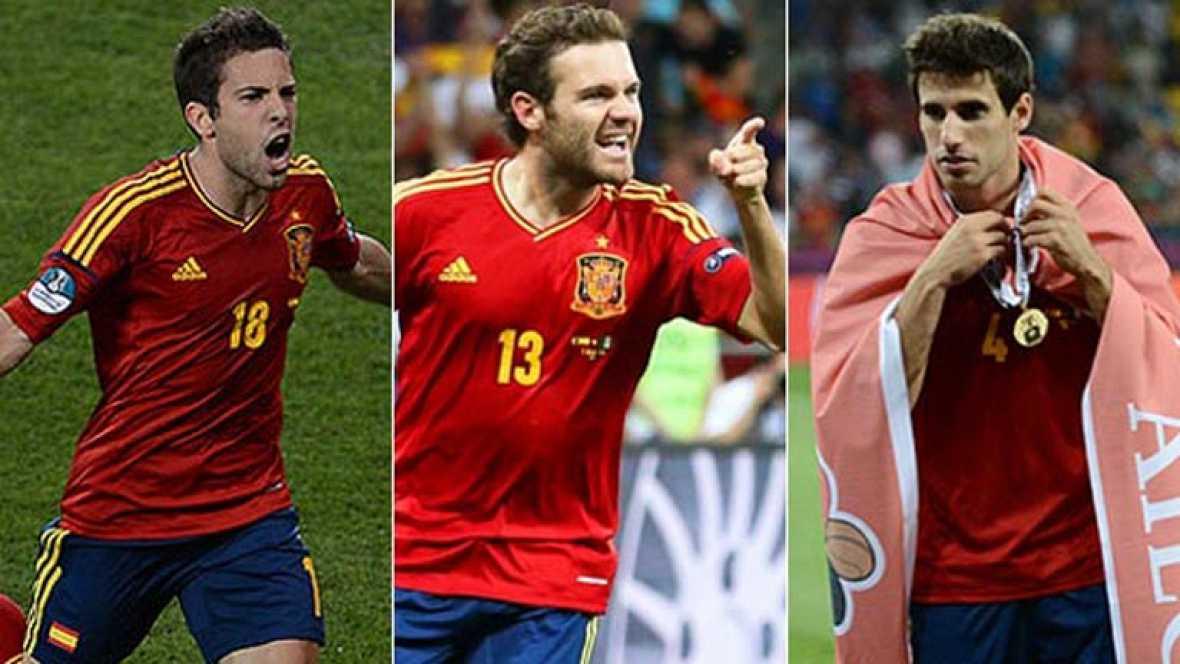 Luis Milla ha dado la lista de 22 convocados previa a los Juegos Olímpicos de Londres. Entre ellos están los campeones de Europa, Jordi Alba, Juan Mata y Javi Martínez. También ha citado al rojiblanco Adrián López.