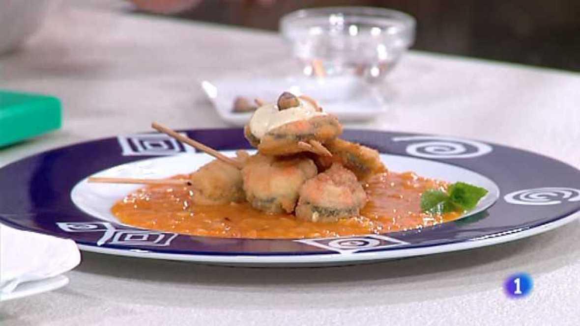 Www Rtve Cocina Con Sergio Es   Cocina Con Sergio Brochetas De Mejillones Empanados Con Alioli