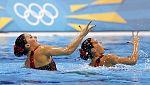 Las chicas de la sincronizada buscan la seguna medalla en Londres 2012