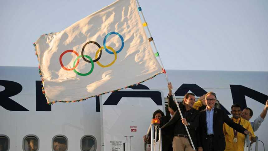 La bandera olímpica llega a Río, sede de los Juegos en 2016