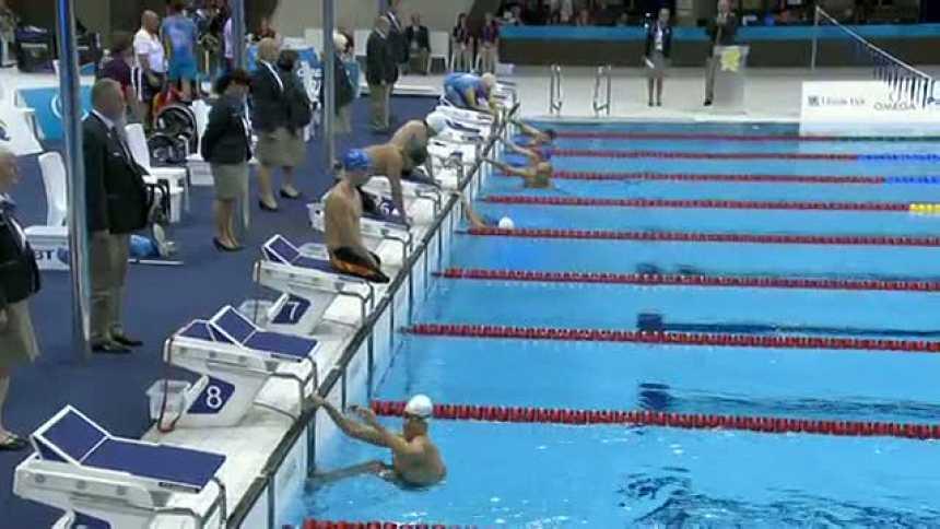 Richard Oribe, plata en 100 metros libres