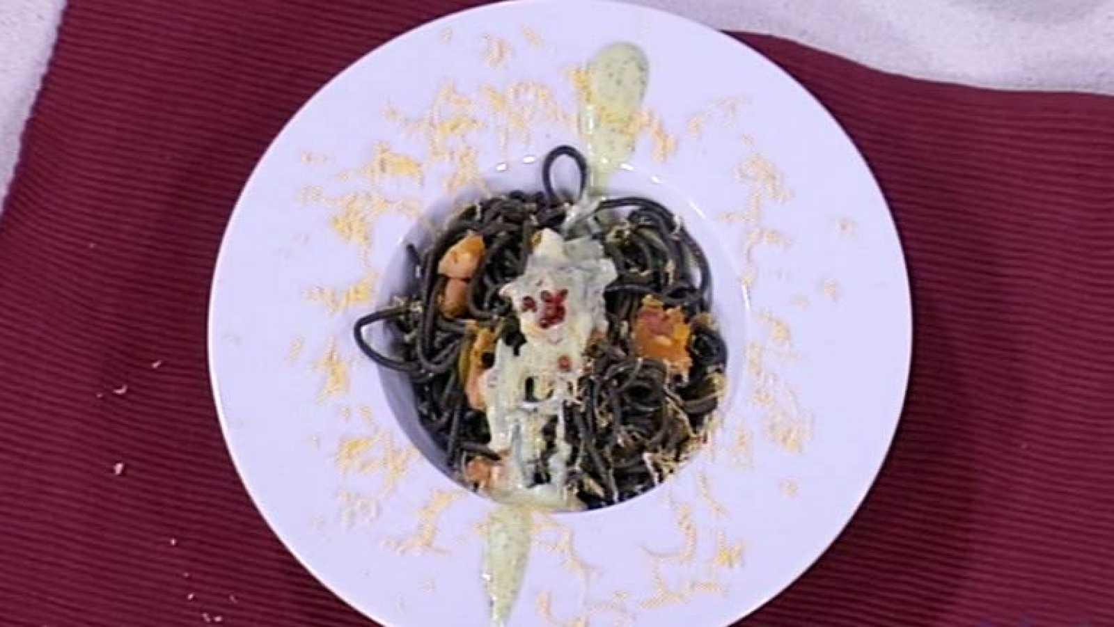 Cocina con sergio pasta negra con salsa de yogur - Cocina con sergio pepa ...