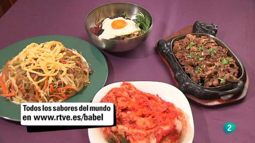 Babel en TVE - Sabores del mundo: Corea. Un menú coreano con bibimbap, kimchi, bul gogui y chap che