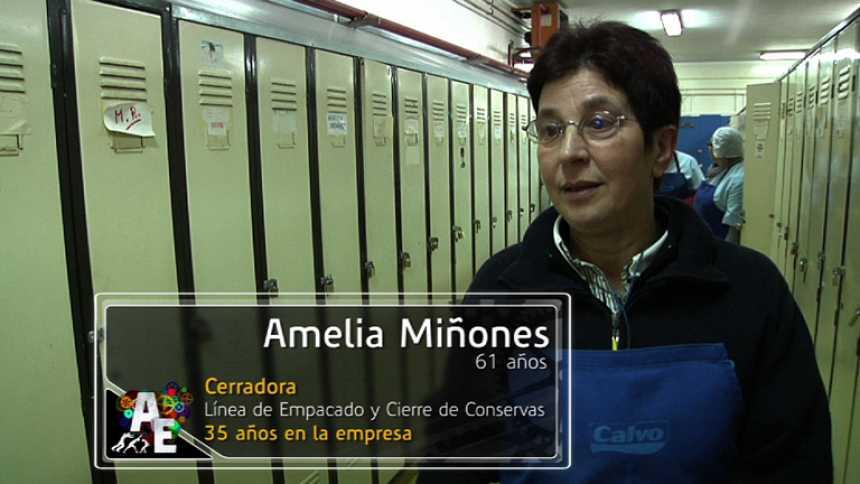 Amelia Miñones (61 años), Cerradora (Línea de empacado y cierre de conservas)