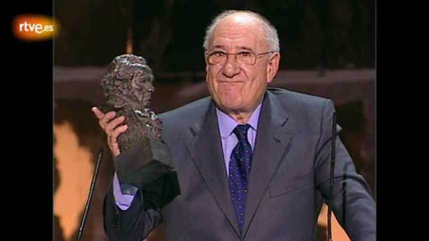 Alfredo Landa se queda sin palabras al recibir el Goya de Honor en 2008