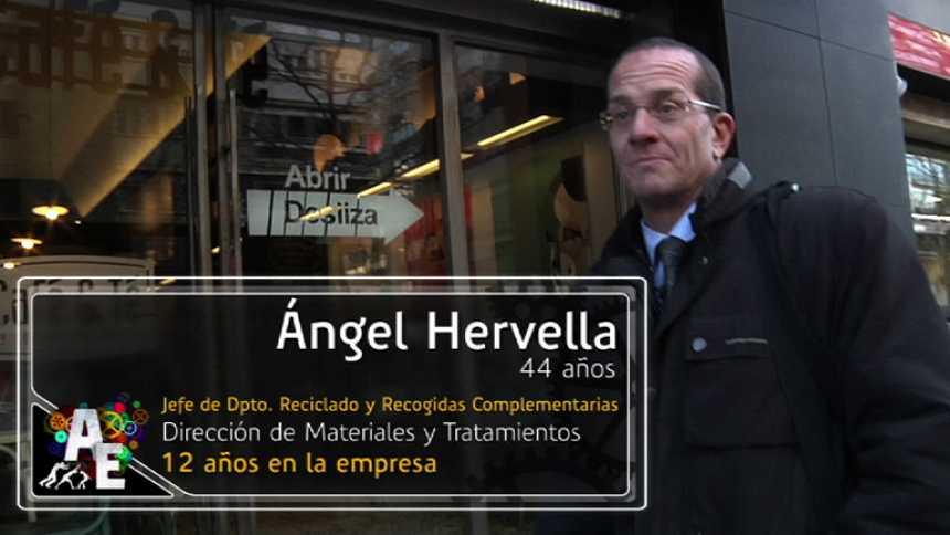 Ángel Hervella (44 años) Jefe del Dpto. de reciclado y recogidas complementarias