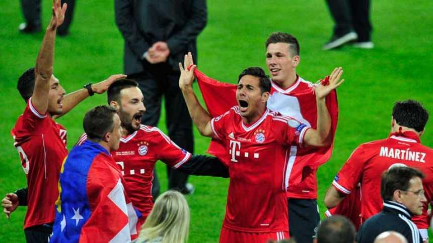 El Bayern celebra su Champions en Wembley