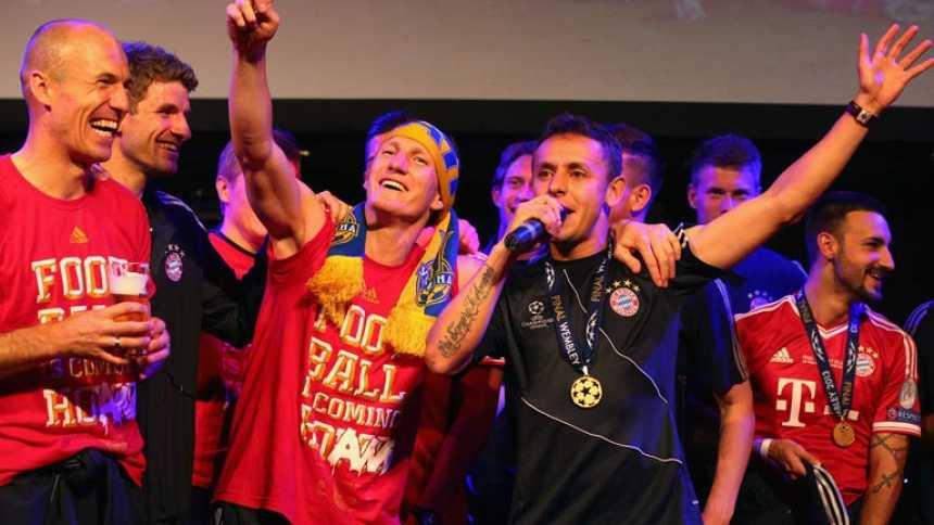 Los jugadores del Bayern celebraron la Champions hasta la madrugada