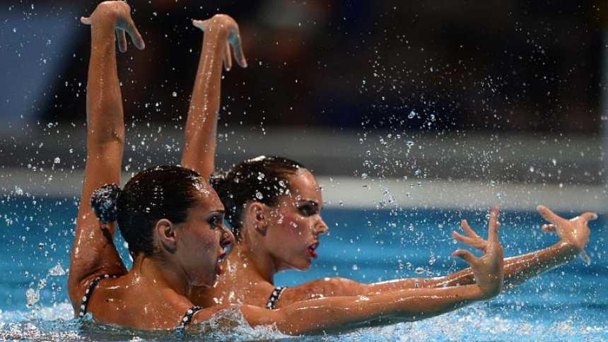 Las españolas se llevan el bronce en el dúo técnico