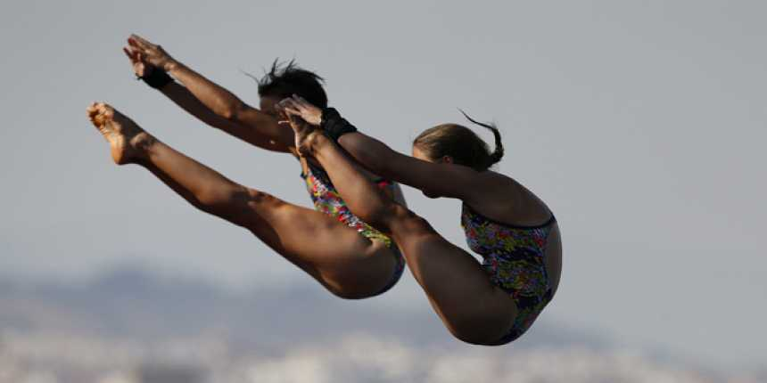Saltos 10 metros plataforma sincronizados femenino. Clasificatorias - (22/07 - sesión matinal)