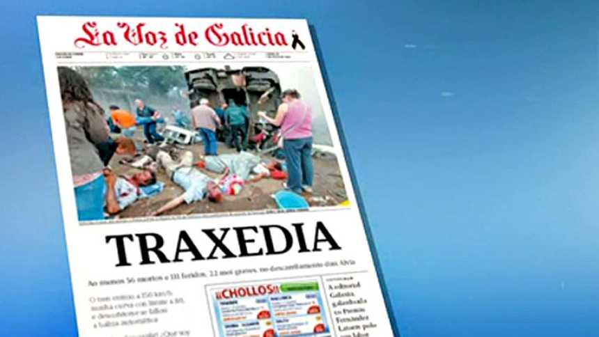 El accidente de tren de Santiago, en las portadas de la prensa española