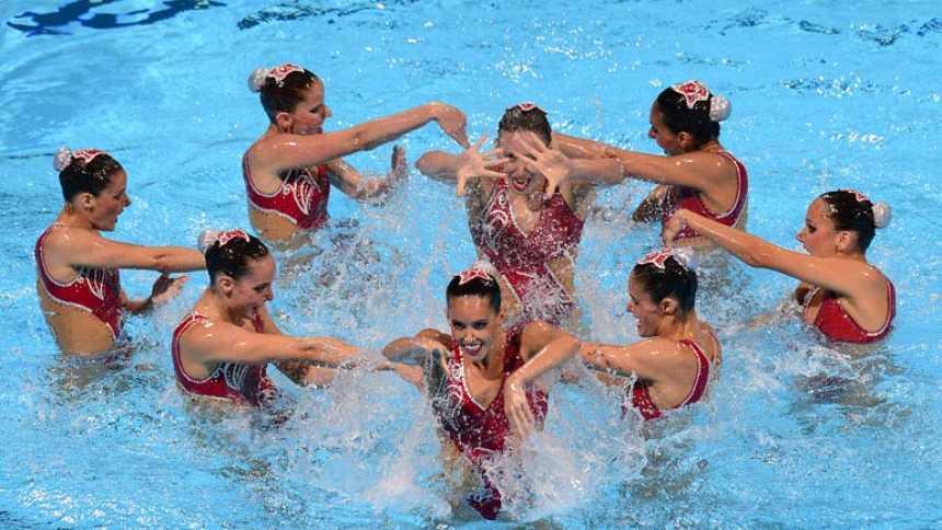 Las chicas de la sincro suman la segunda plata y van seis medallas