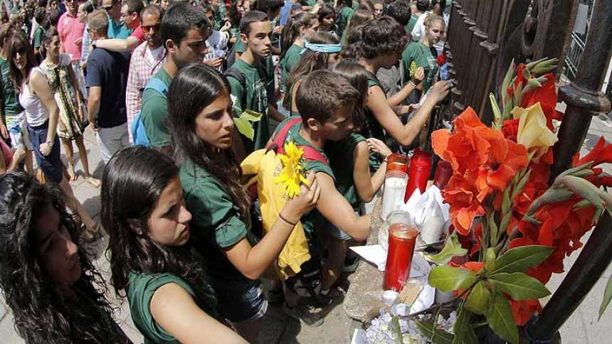 Amargo sentimiento de llegada para los peregrinos en Santiago