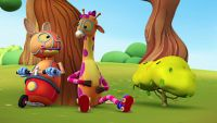 Jóvenes jirafas exploradoras