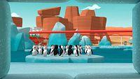 Marcha de pingüinos en Big Sky Park