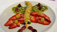 Postre - Mariposas de frutas