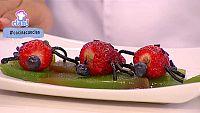 Postre - Mariquita de fresa y chocolate